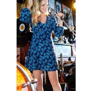 Draper James Dinah Long Sleeve Floral Dress